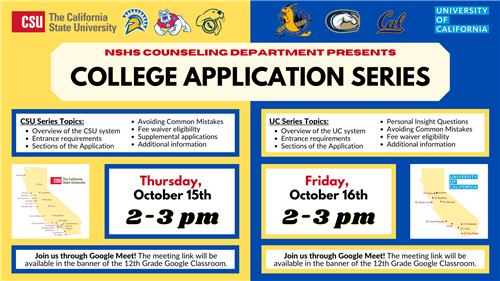 CSU & UC College Application Series Fall 2020