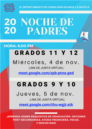 Parent Nights Fall 2020 (Spanish)